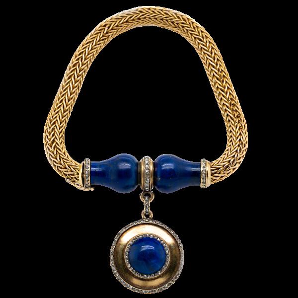 Lapis and Gold Bracelet. - image 1