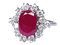 Ruby and Diamond Cluster Ring  DBGEMS - image 1