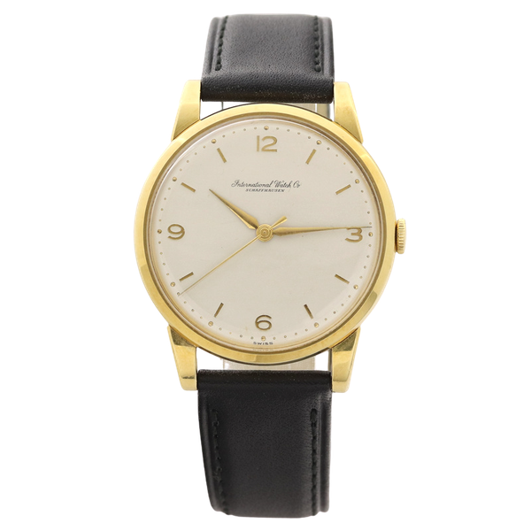 IWC Vintage Men's 1950's Manual Watch 18K Yellow Gold - image 1