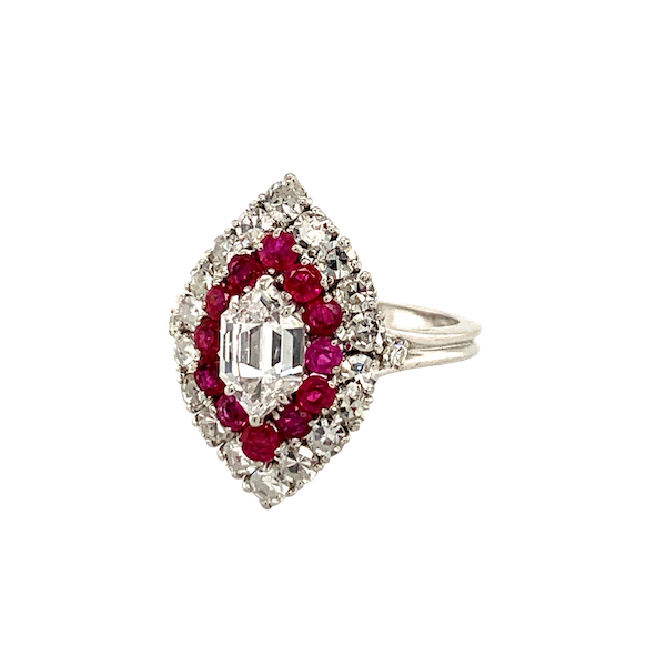 Ruby and Diamond ring - image 1