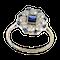 MM6420r Sapphire diamond platinum cluster ring.  1920c - image 1