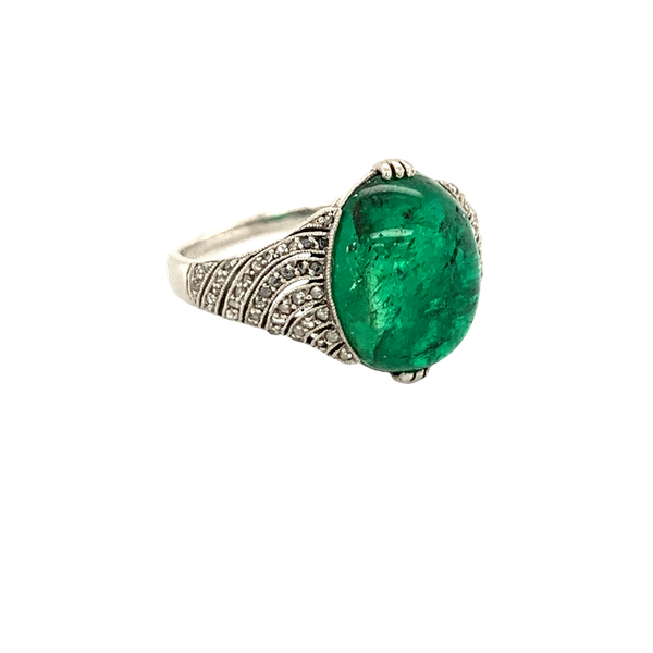 Emerald and Diamond ring - image 1