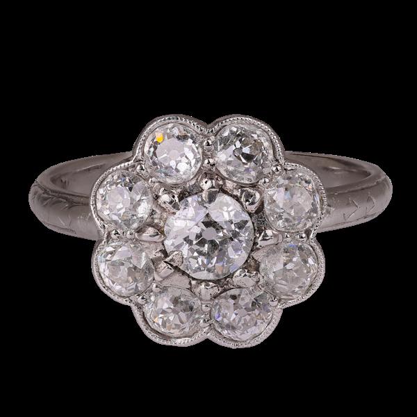 Cluster diamond ring - image 1