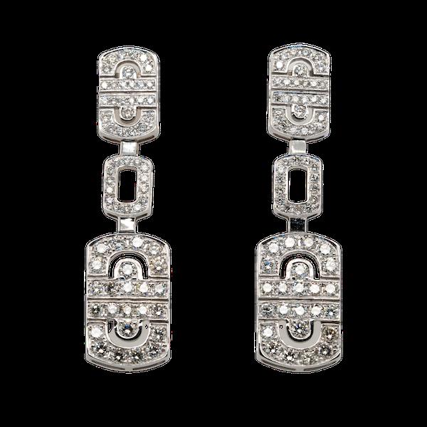 18K white gold 2.68ct Diamond Earrings - image 4