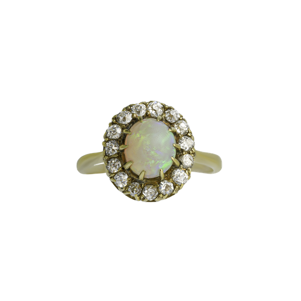 Victorian Opal & Diamond Ring - image 1