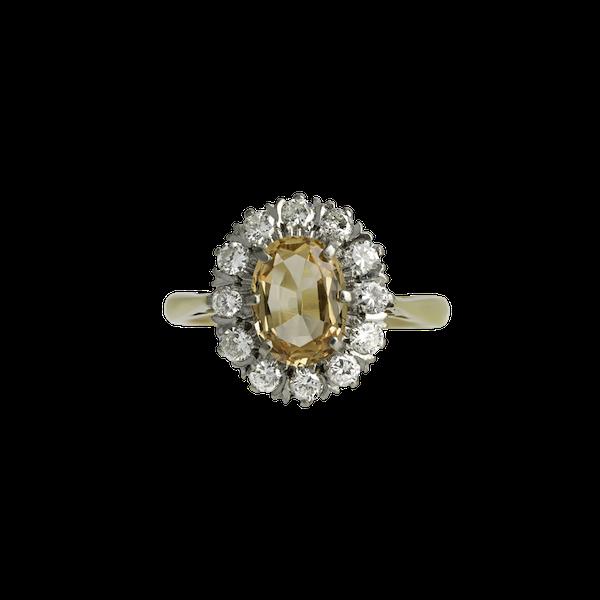 Topaz & Diamond Ring - image 1