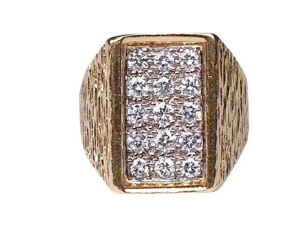 1960's cool 18ct and diamond ring  DBGEMS - image 1
