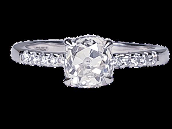 Cushion Cut Diamond Engagement Ring  DBGEMS - image 1