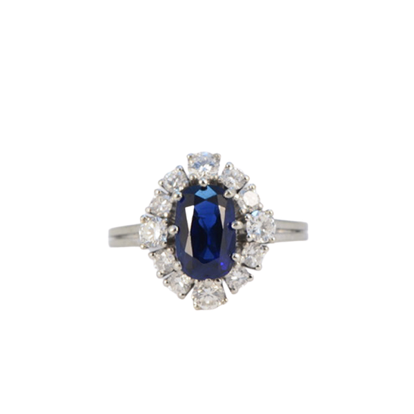 1960's, Sapphire and Diamond stone set Ring, SHAPIRO & Co since1979 - image 1