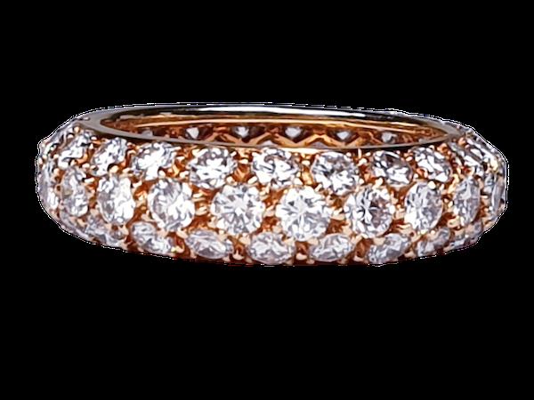 French Bombe Diamond Eternity Ring  DBGEMS - image 1
