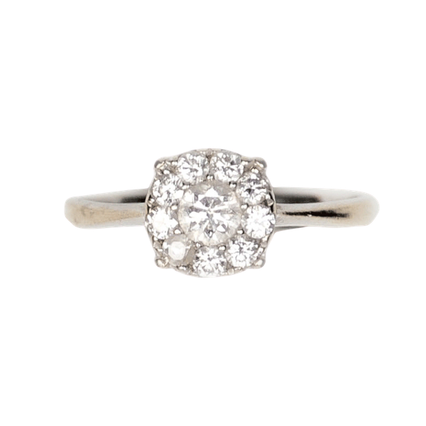 A 1910 Diamond Cluster Ring - image 2