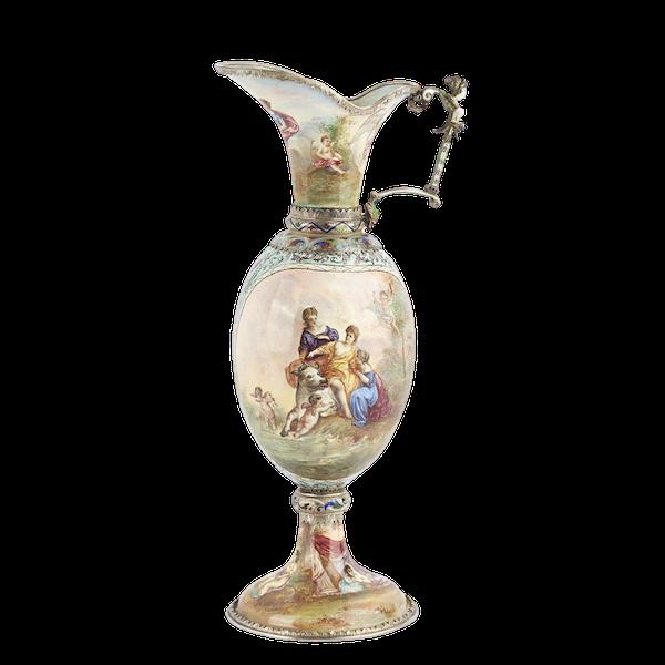 Austrian Silver and Enamel Jug, Vienna 1866 - image 1
