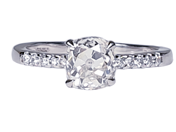 Cushion Cut Diamond Engagement Ring  DBGEMS - image 1