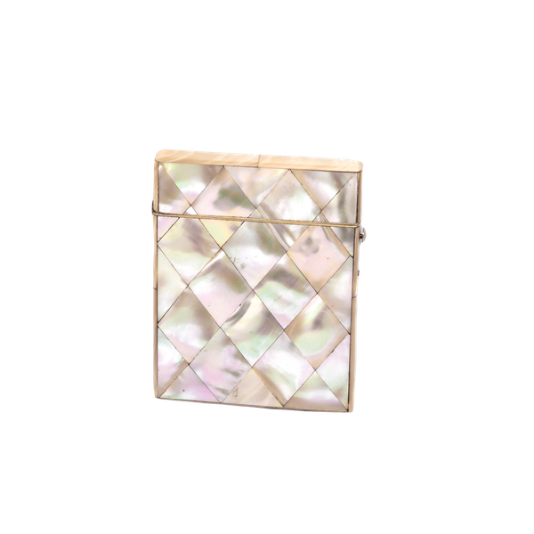 Silver and mother of pearl card case - image 1