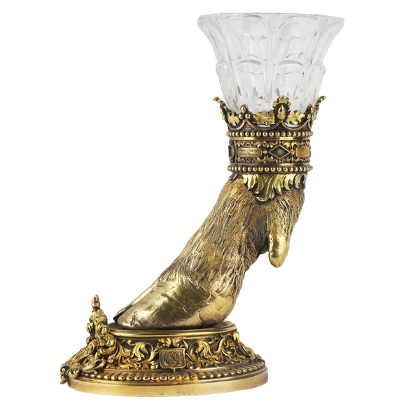 19th Century French Silver Gilt and Glass Hunting Trophy, 1835 - image 1