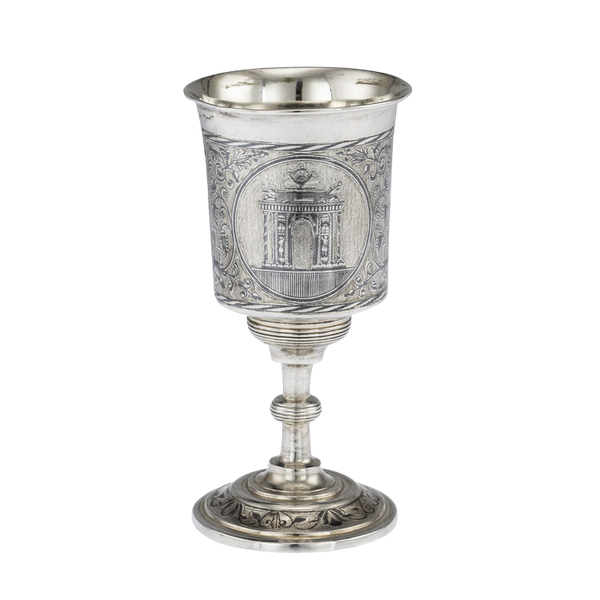 Russian Silver Gilt Niello Cup with Moscow Scenes, Moscow 1838 - image 1