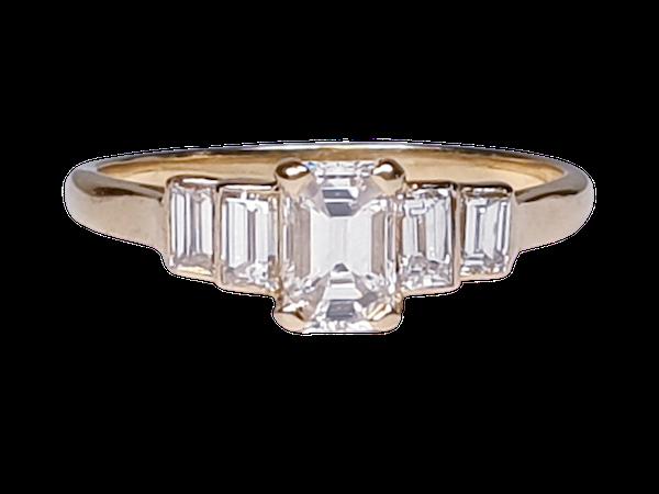Geometric Emerald Cut Diamond Ring  DBGEMS - image 1