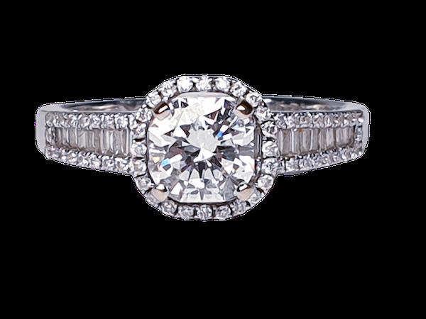 1.02ct D Colour Vs2 Diamond Ring  DBGEMS - image 1