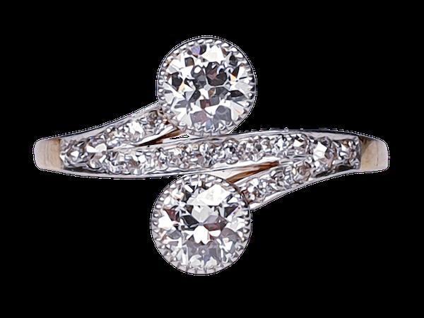 Edwardian Two Stone Moi et Toi Ring  DBGEMS - image 1