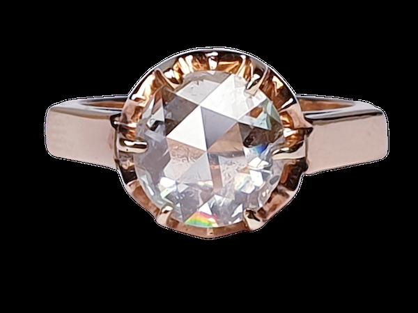 Rose Diamond Single Stone Diamond Engagement Ring DBGEMS - image 1