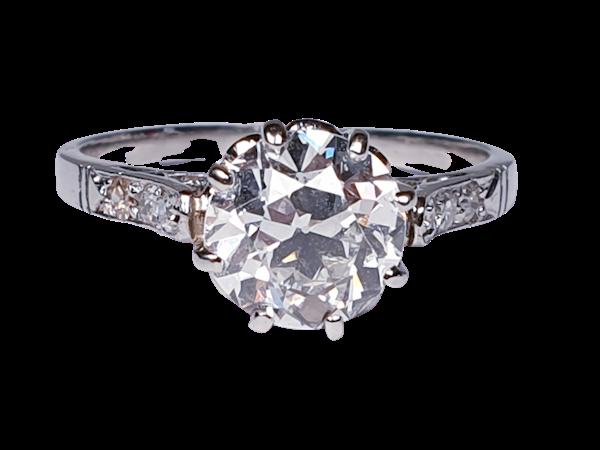 1.46ct old European transitional cut diamond engagement ring  DBGEMS - image 1