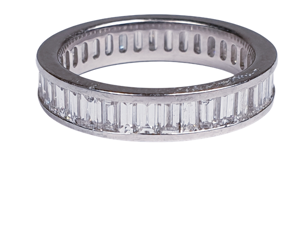 baguette diamond eternity ring  DBGEMS - image 1