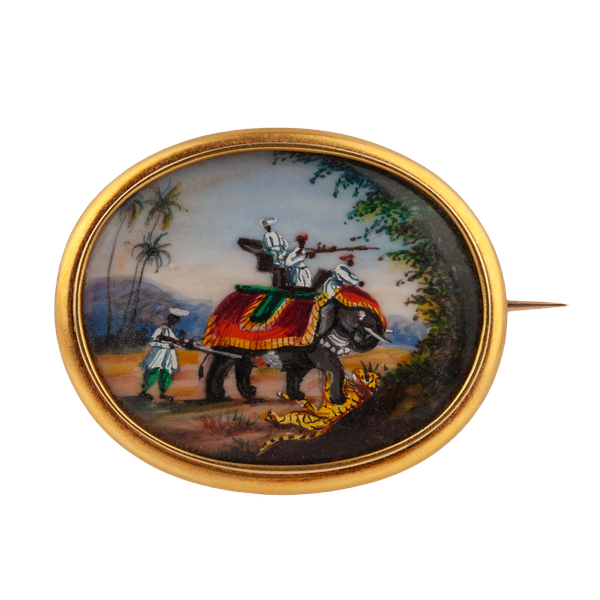 A 19th century Gold and Enamel Brooch - image 1