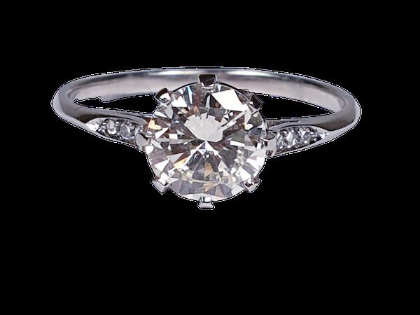 1.05ct single stone diamond engagement ring  DBGEMS - image 1