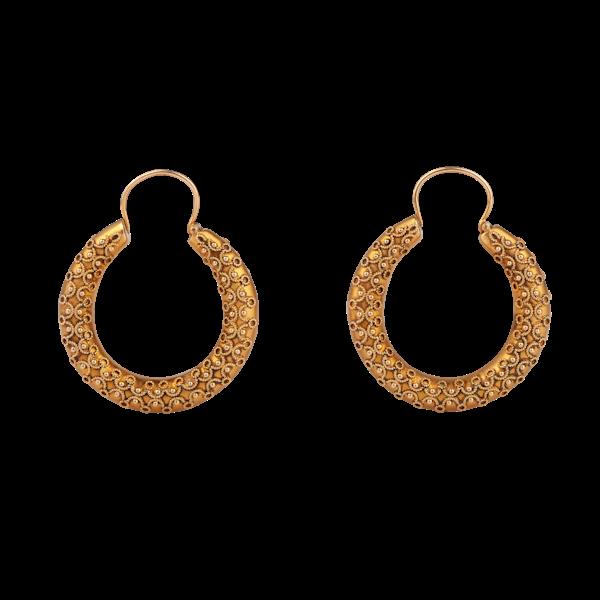 A pair of Gold Hoop Earrings - image 1