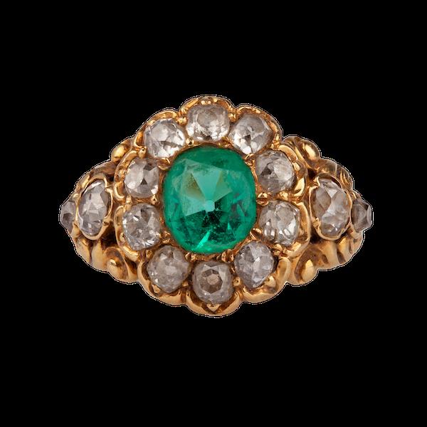 An Emerald Diamond Gold Ring - image 2