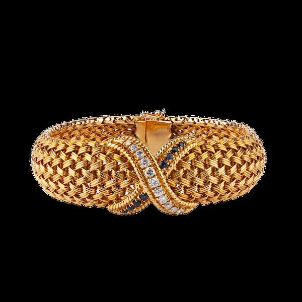 1970s sapphire diamond bracelet - image 1