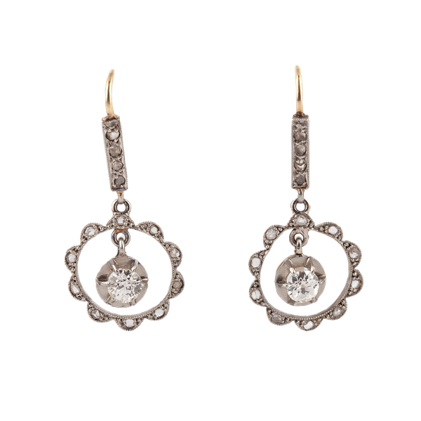 A pair of Diamond Drop Earrings - image 1