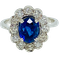 18K white gold 2.00ct Natural Blue Sapphire and 0.50ct Diamond Ring - image 1