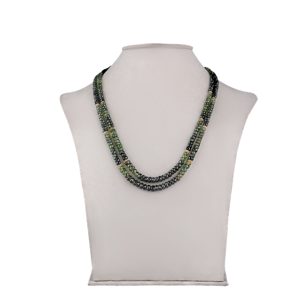 Green tourmaline bead necklace - image 1