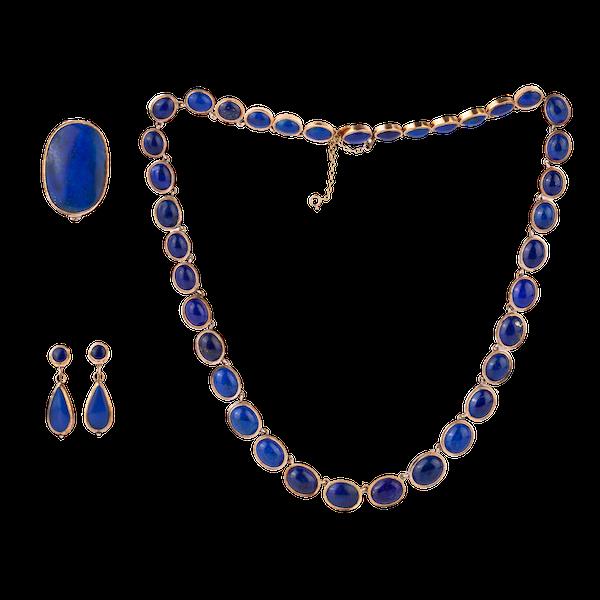 Victorian lapis lazuli suite - image 1