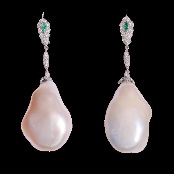 Baroque pearl earrings - image 1