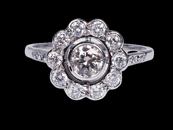Diamond Cluster Engagement Ring  DBGEMS - image 1