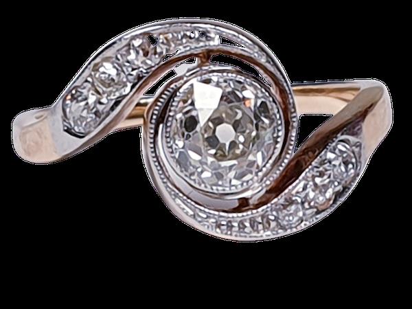Edwardian Diamond Engagement Ring  DBGEMS - image 1