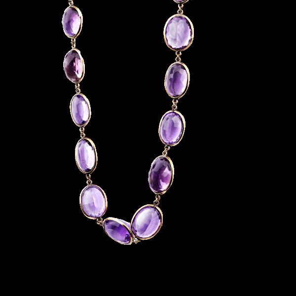 Amethyst necklace. Spectrum Antiques - image 1