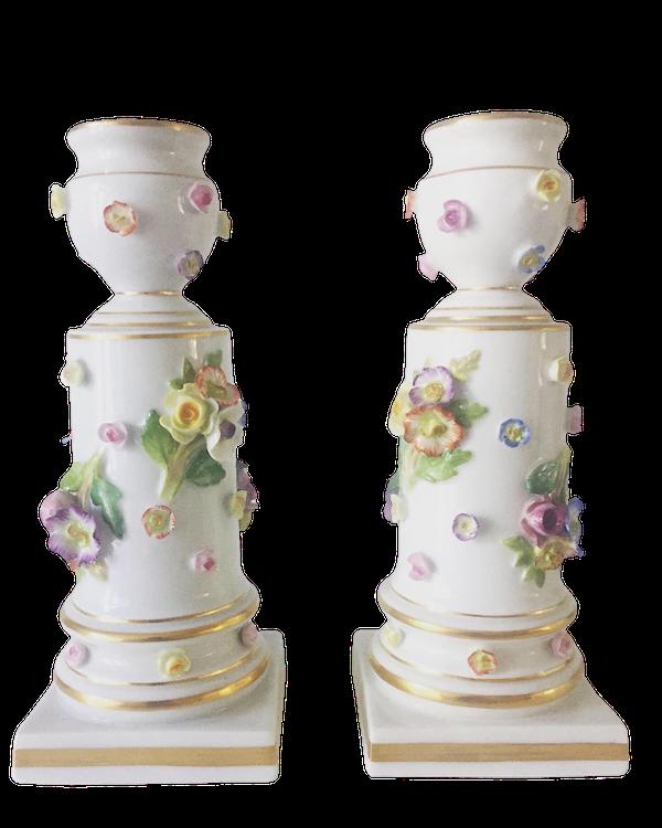 Pair of 19th century Meissen candlesticks - image 1