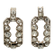 Art Deco rectangular diamond earrings - image 1