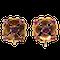 Garnet and gold flower shape screw on earrings - image 1