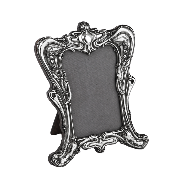 Beautiful Art Nouveau Silver Picture Frame - image 1