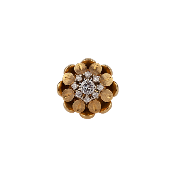 1970s gold diamond ring - image 1