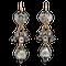 Georgian rose cut diamond drop earrings - image 1