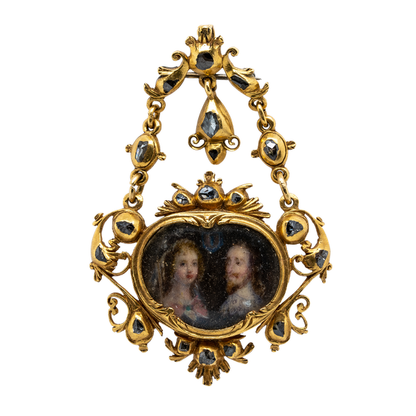 17th century portrait of Charles 1 and Henrietta Maria - image 1