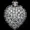 Victorian pave set diamond heart pendant - image 1