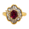 18K yellow gold 1.26ct Natural Ruby and 1.00ct Diamond Ring - image 1