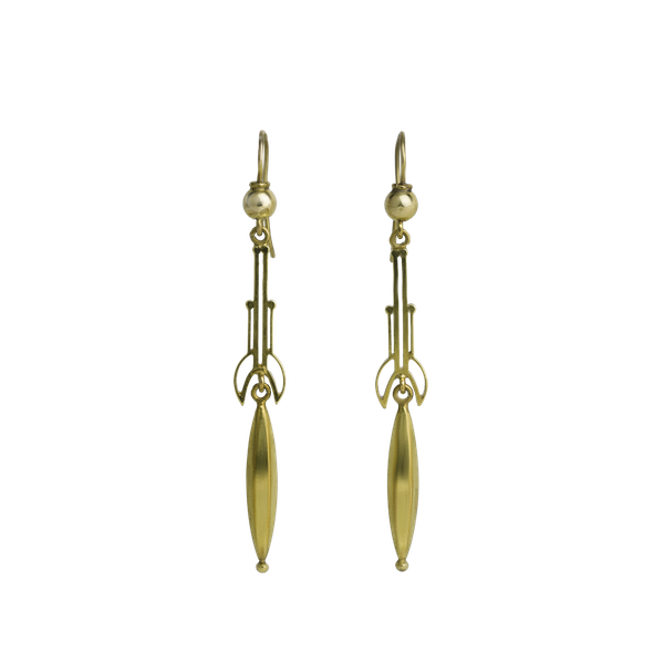 Deco Architectural Drop Earrings - image 1