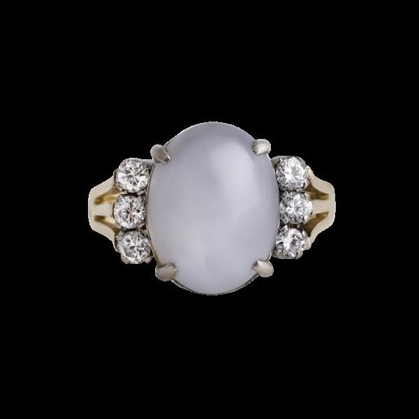 Deco Star Sapphire ring - image 1